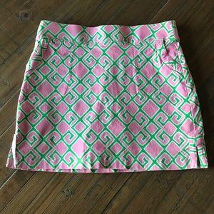 Crown & Ivy size 4 pink, white & green skort